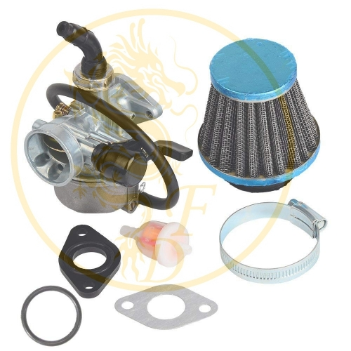 ATV Carburetor PZ19 with Fuel Filter and 35mm Air Filter for 50cc 70cc 80cc 90cc 110cc 125cc ATV Dirt Pit Bike Taotao Honda CRF