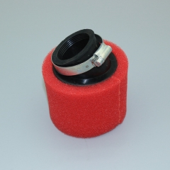 Bend Elbow Neck Foam Air Filter Sponge Cleaner Moped Dirt Pit Bike Motorcycle RED Kayo BSE (42mm)