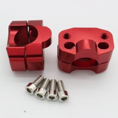 Red CNC Aluminum Handle Bar Clamp Adapter Risers Taper For Fat 1 1/8'' 28mm Handlebar Pit Dirt Bike ATV Quad Motocross Motorcycle