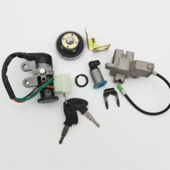 50CC SCOOTER PARTS 50QT-6 IGNITION SWITCH LOCK KEY SET LIFAN TAOTAO OEM REPLACEM