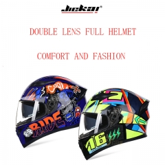 Full Face Motorcycle Helmet with Removable Double Lens